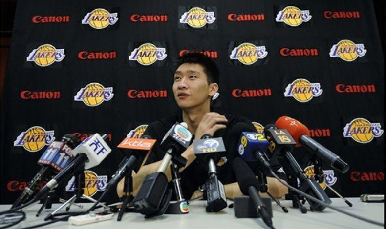 sun yue china lakers conference