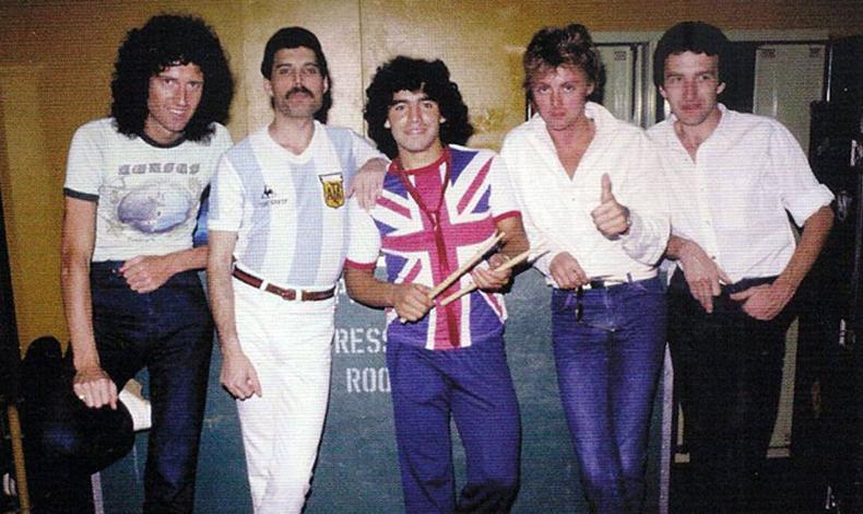 the queen and maradona 1981
