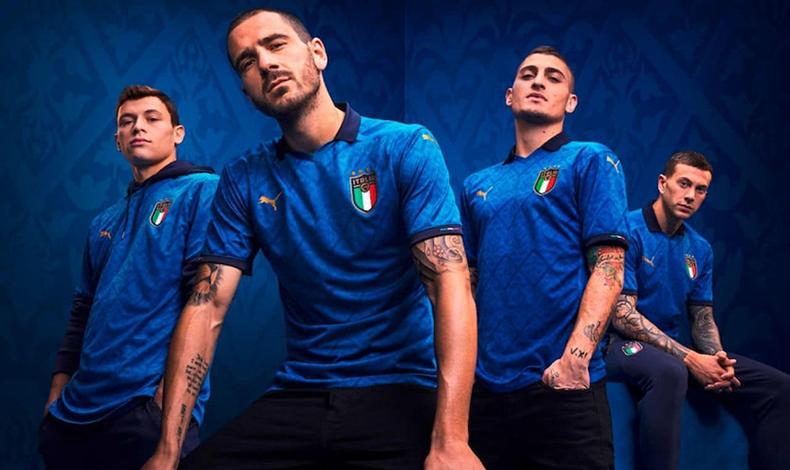maglietta italia europei 2021