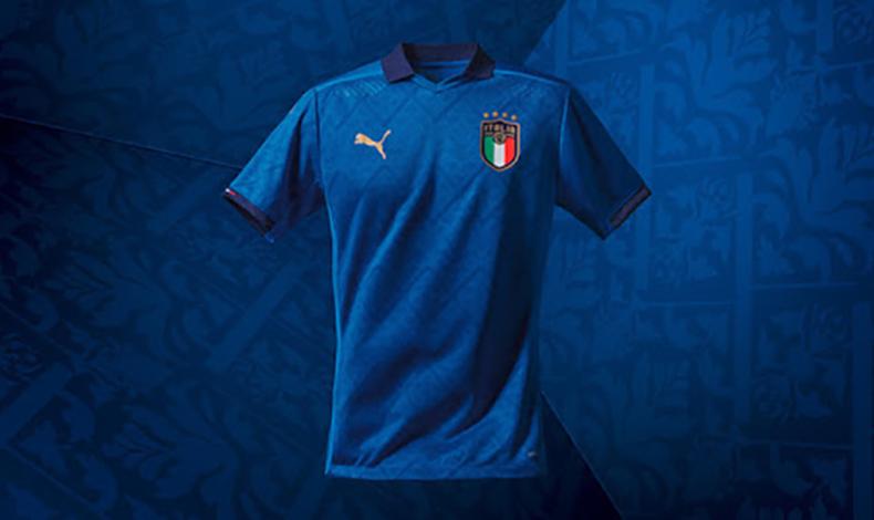maglietta italia euro 2021