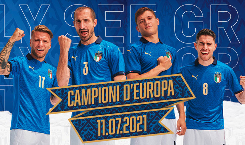 italia campione d'europa maglia celebrativa